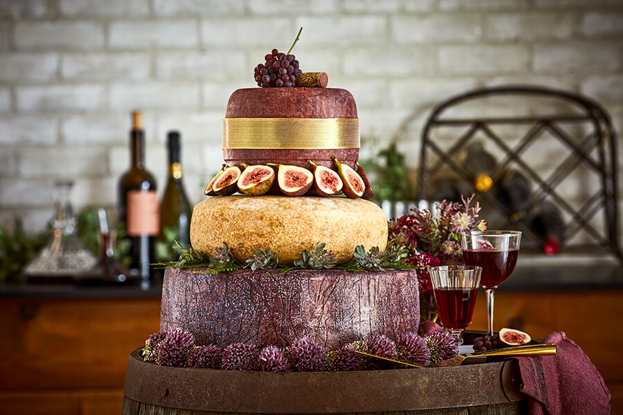 Cheese Wedding Cakes: When Wine Met Wheels
