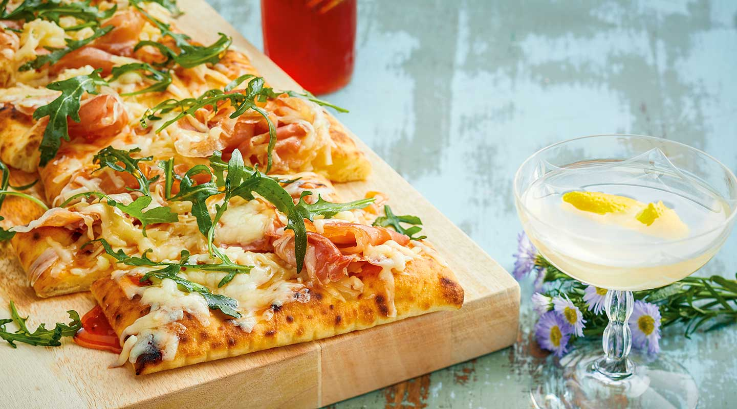 Wisconsin Cheese Alpine-Style Cheese and Prosciutto Flatbreads Recipe
