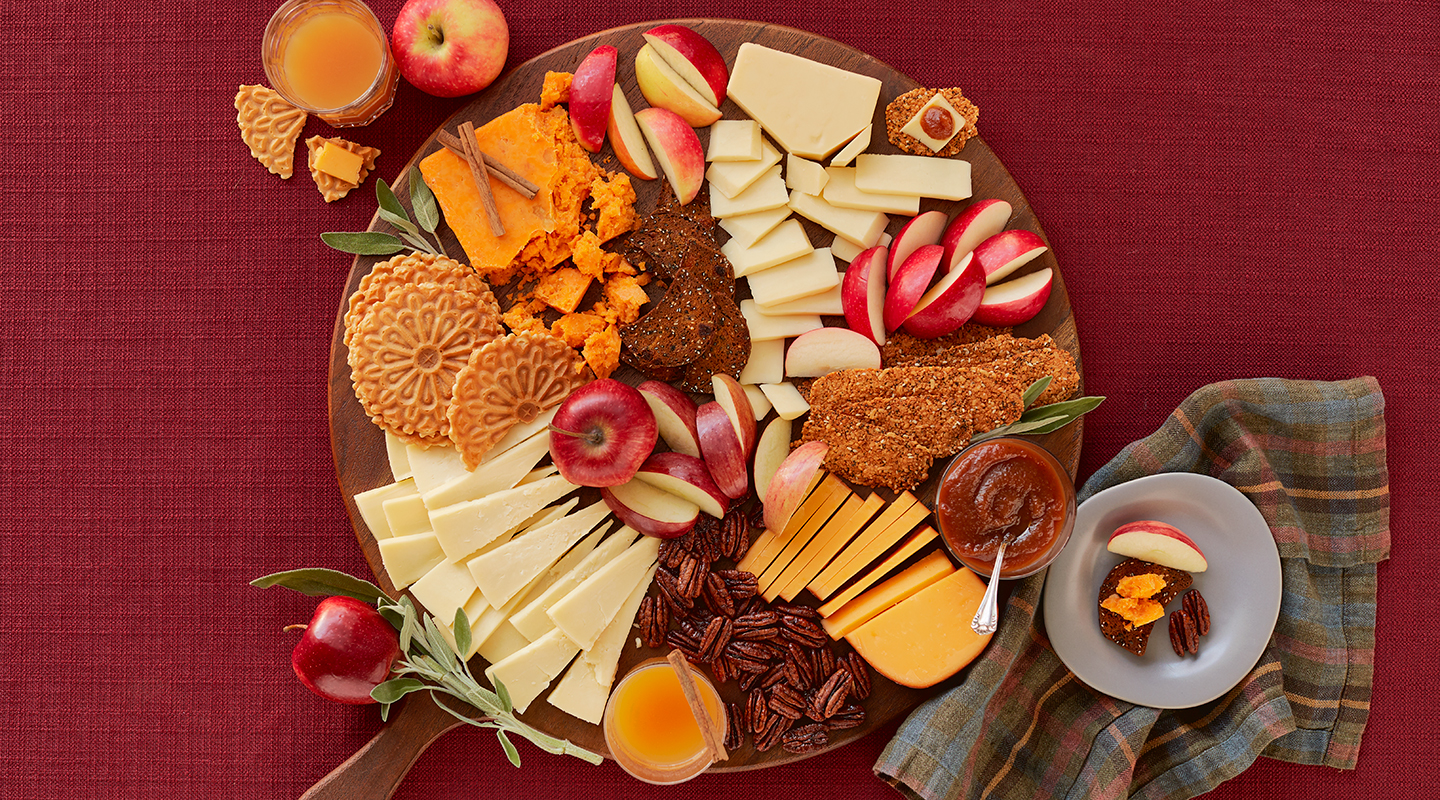 Wisconsin Cheese Autumn Apple Cheese Board Recipe
