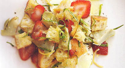 Artichoke and Strawberry Panzanella