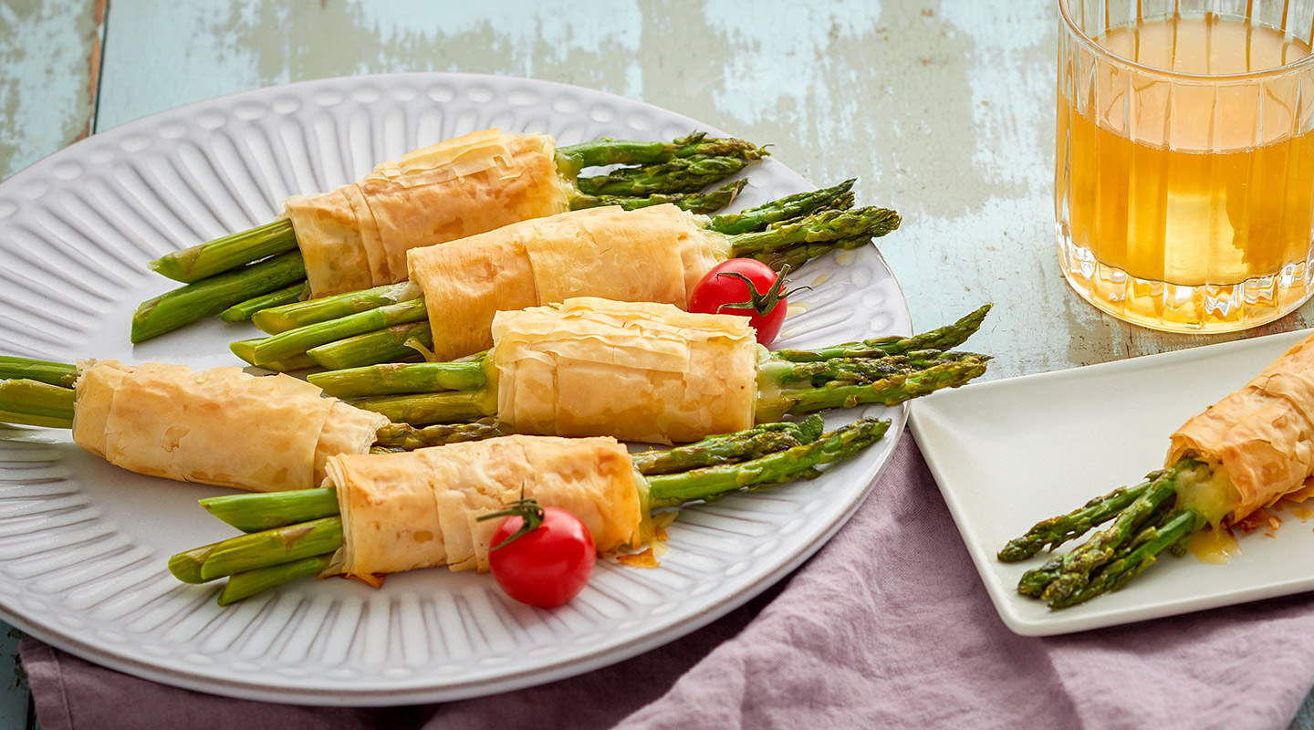 Asparagus Bundles with Muenster Cheese