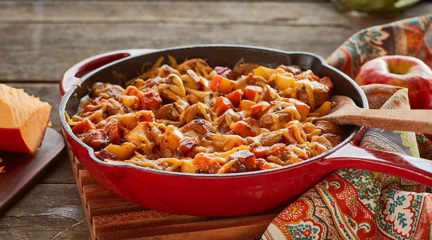 Wisconsin Cheese Autumn Chicken and Gouda Hash Recipe