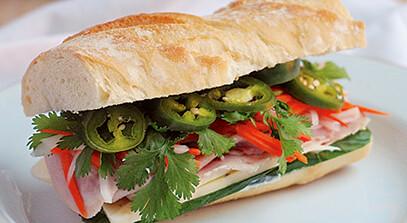 Ham and Pepper Jack Banh Mi Sandwiches