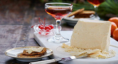 Hook's 15-Year Cheddar with a Maple Rye Manhattan