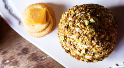Pistachio Feta Cheese Ball