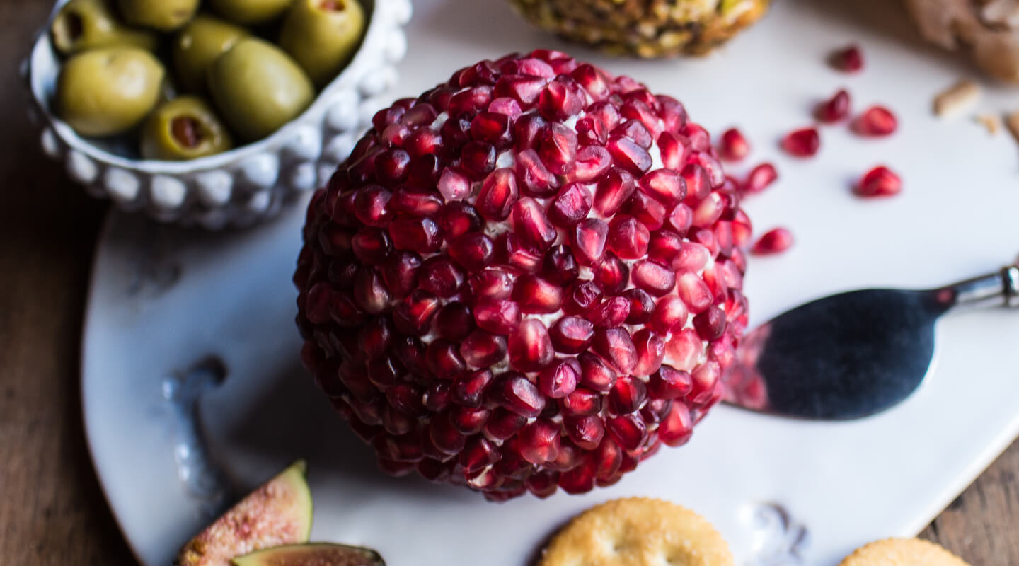 Wisconsin Cheese Pomegranate Blue Cheese Ball Recipe