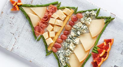 Holiday Tree Cheese Board