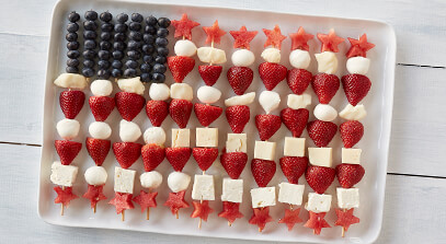 Stars and Stripes Cheese Board