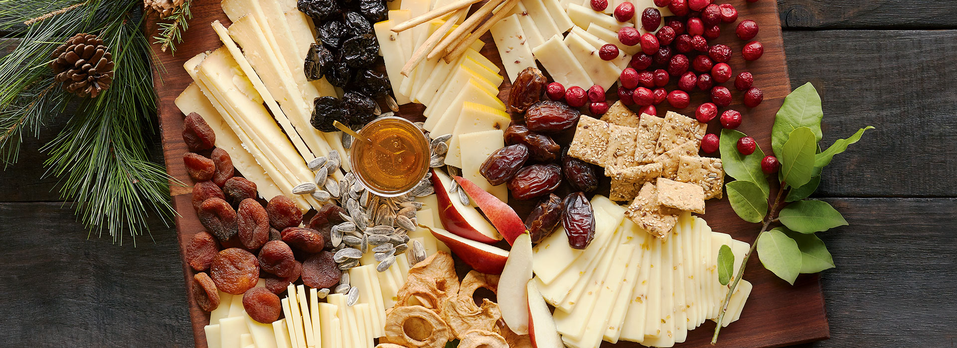 Holiday Flavor-Spiked Cheese Board