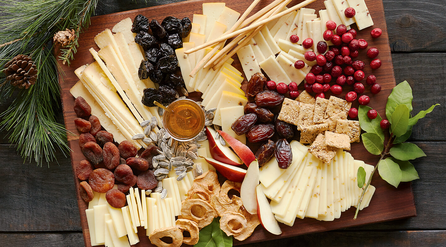 Wisconsin Cheese Holiday Flavor-Spiked Cheese Board Recipe