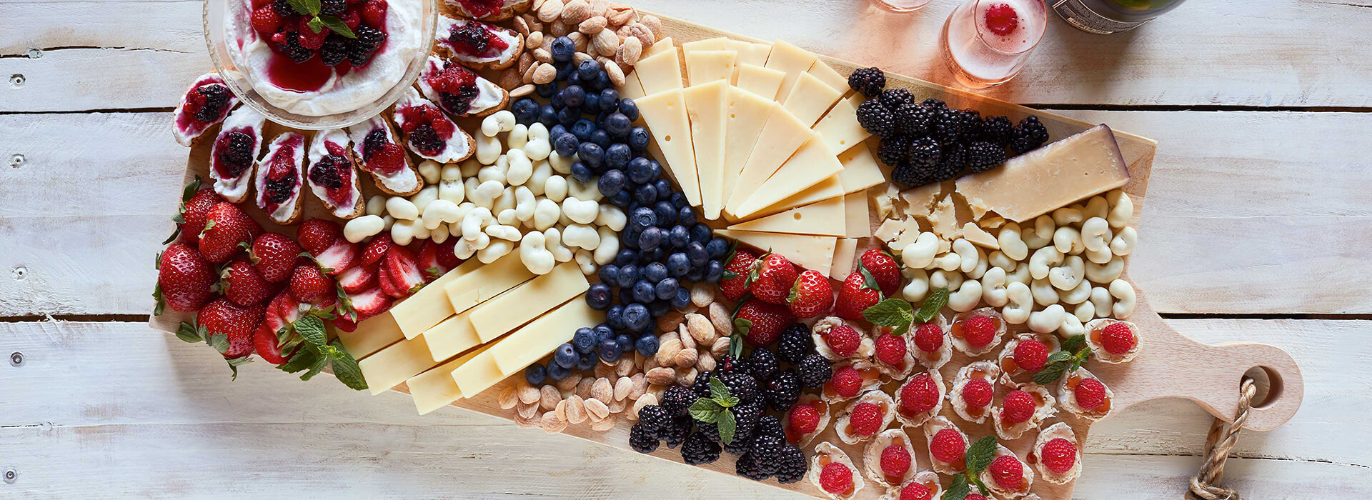 Spring Berry Cheese Board