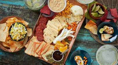 Spring Fiesta Cheese Board