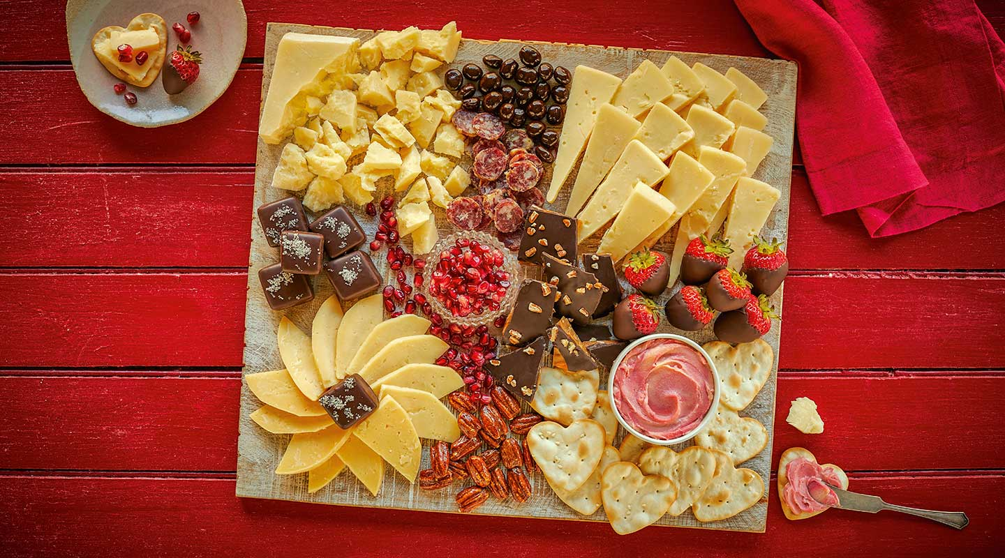 Wisconsin Cheese Valentine's Day Cheese Board Recipe