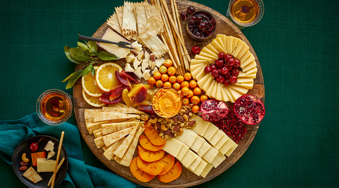 Wisconsin Cheese Holiday Spirits Cheese Board Recipe