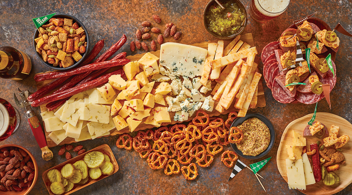 Wisconsin Cheese Spicy Game Day Cheeseboard Recipe