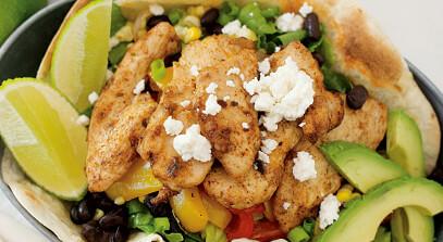 Open-Faced Chicken Quesadilla Salad