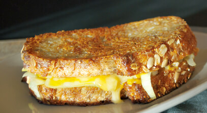 Creamy Leek Grilled Cheese