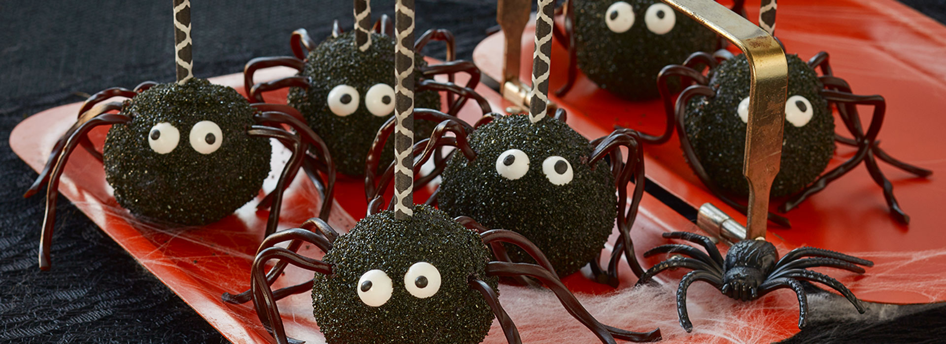 Chocolate Spider Cake Pops Wisconsin Cheese