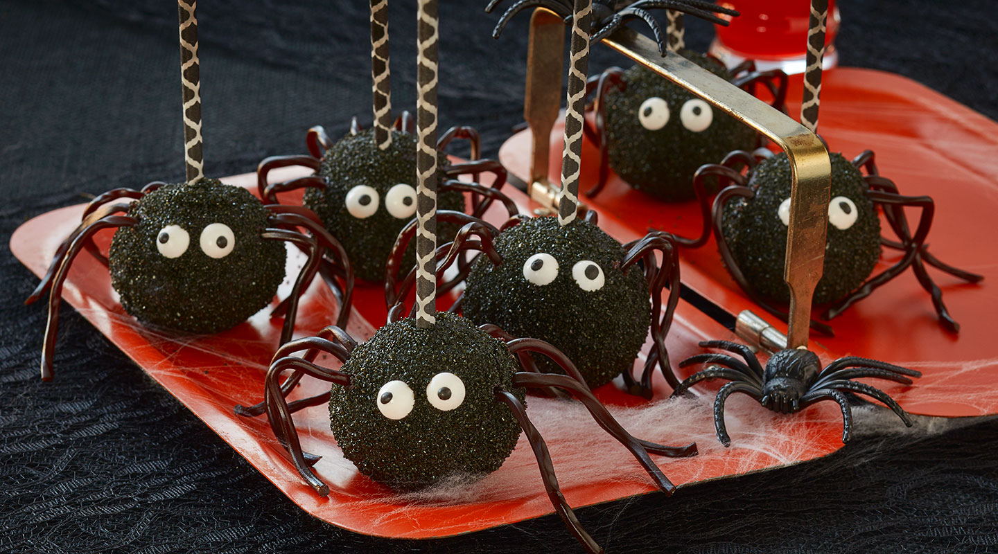 Wisconsin Cheese Chocolate Spider Cake Pops Recipe