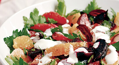Citrus Salad with Beets and Quark
