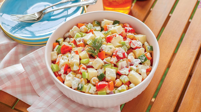 Wisconsin Cheese Creamy Veggie Chopped Salad Recipe