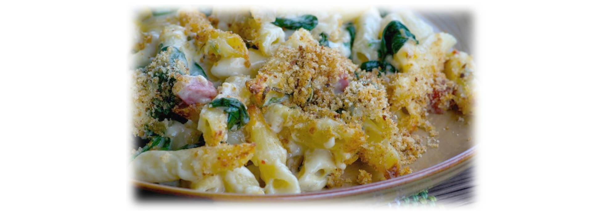 Salami, Spinach and Smoked Gouda Mac