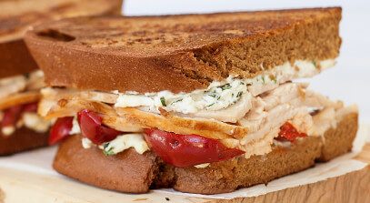 The Herby Turkey Grilled Cheese