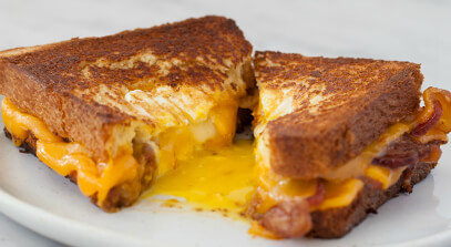 Hole-in-One Grilled Cheese
