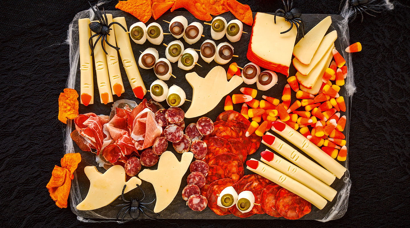 Wisconsin Cheese Halloween Grazing Cheese Board Recipe