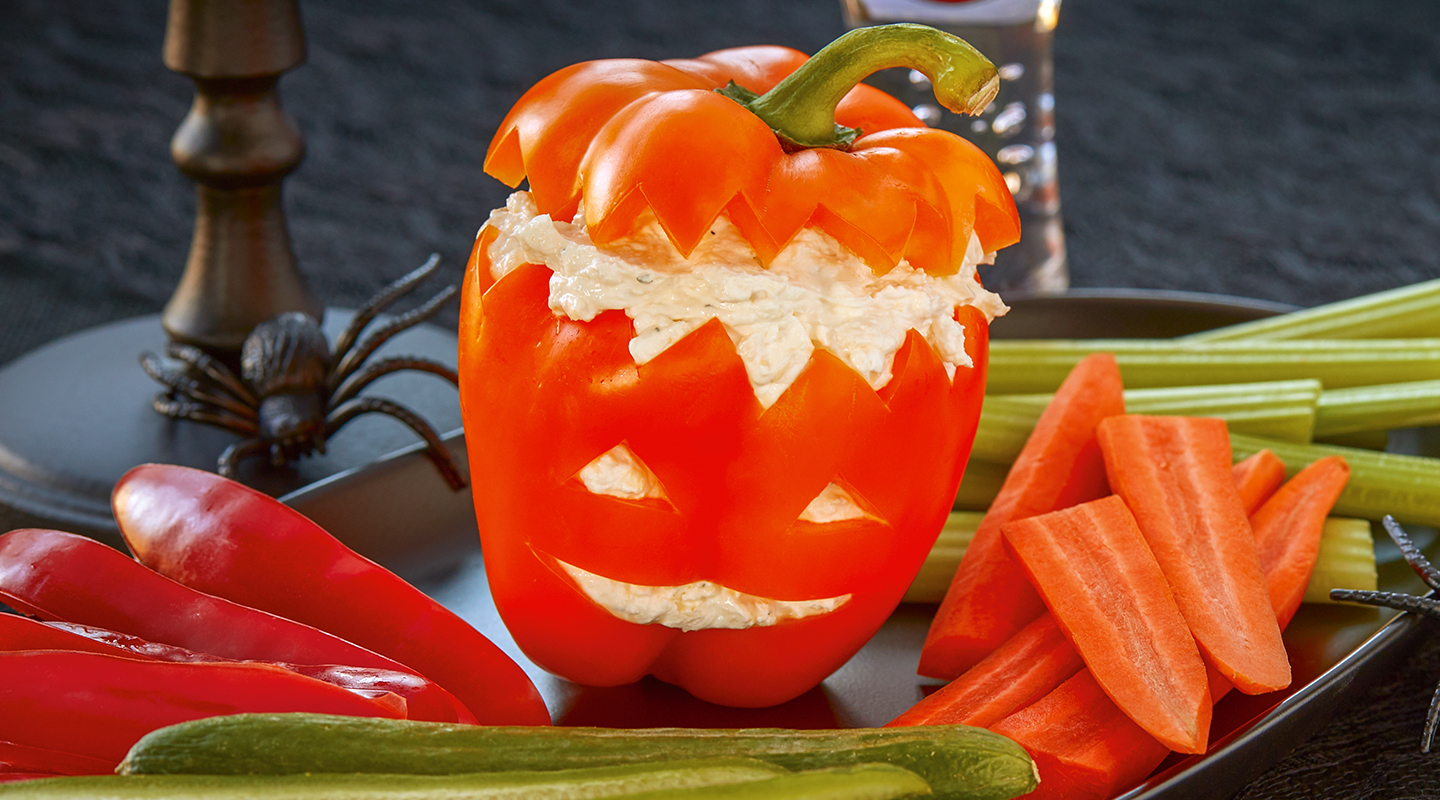 Wisconsin Cheese Halloween Cheesy Veggie Dip Recipe