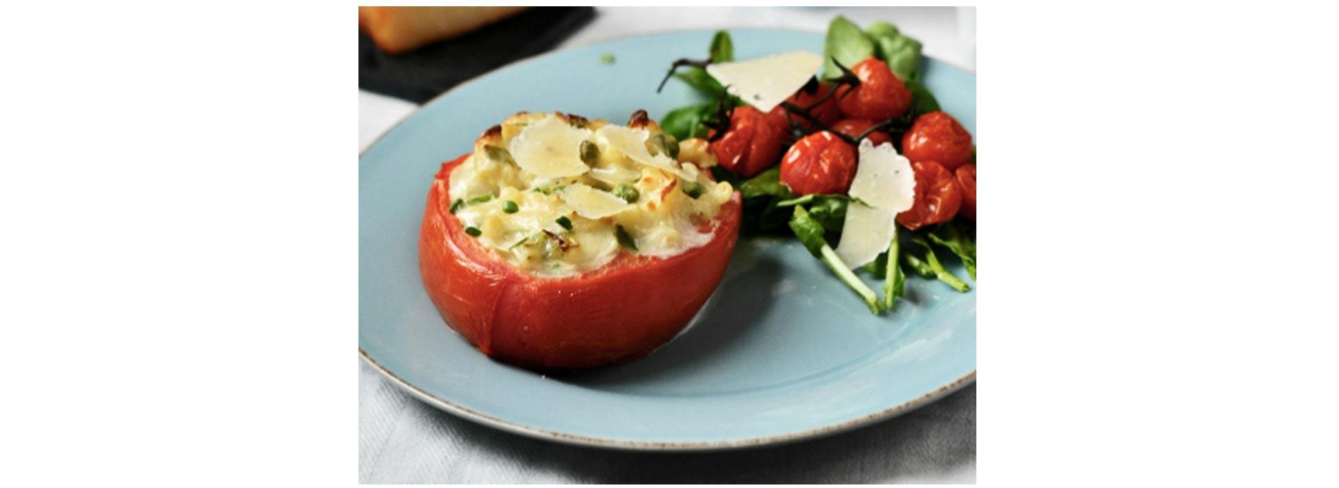 Mac and Cheese Stuffed Tomatoes