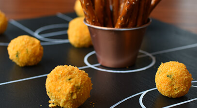 Mini Basketball Cheese Balls