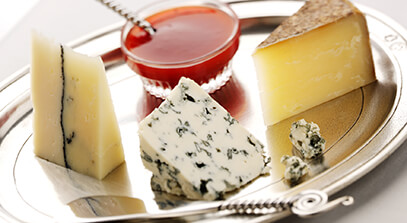 Artisanal Cheese Plate with Wild Plum Butter