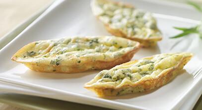 Tarragon and Parmesan Petit Quiches
