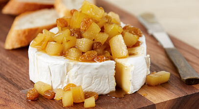 brie with ginger pear compote