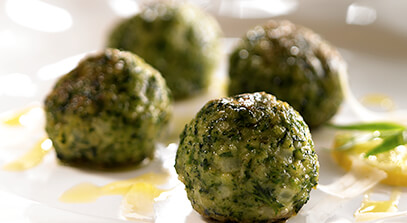 Stinging Nettle and Parmesan Malfatti