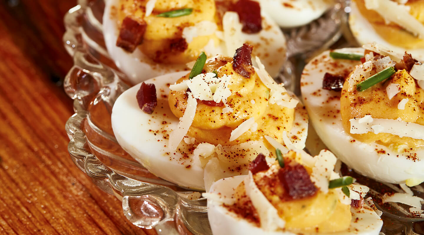 Wisconsin Cheese Sweet Potato Deviled Eggs Recipe