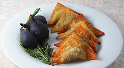 Crispy Gorgonzola and Fig Dumplings