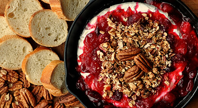 Cranberry Baked Brie with Granola