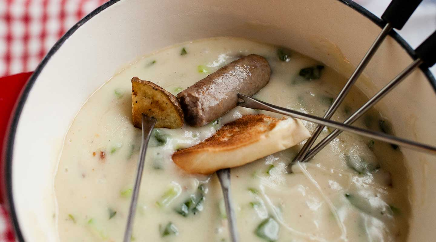 Wisconsin Cheese Brunch Fondue Recipe