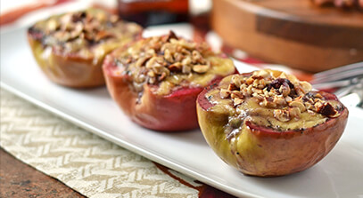 Edam Baked Apples with Hazelnuts
