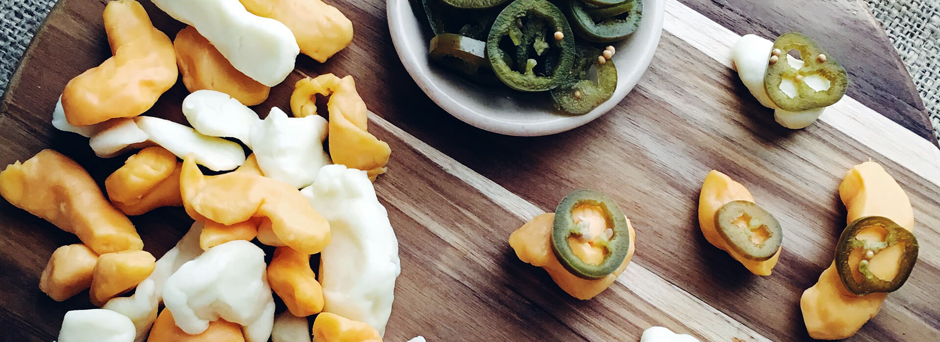 Sweet and Spicy Pickled Jalapeños with Wisconsin Cheese Curds