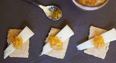 Alpine-Style Cheese with Lemon-Honey Marmalade