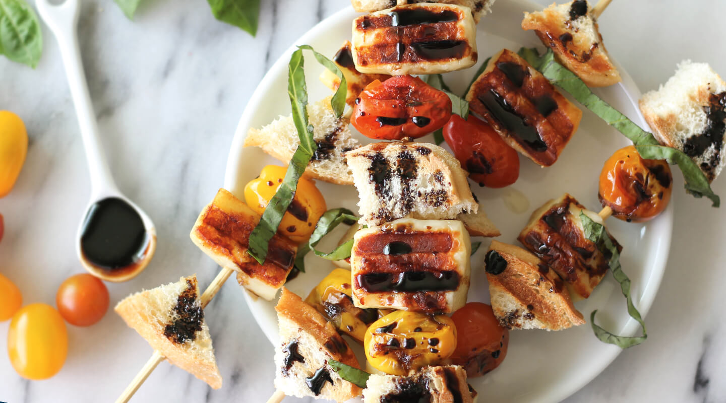 Wisconsin Cheese Balsamic Bread Cheese Kabobs Recipe