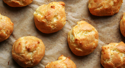 Alpine-Style Cheese Gougères
