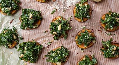 Sweet Potato Rounds with Parmesan