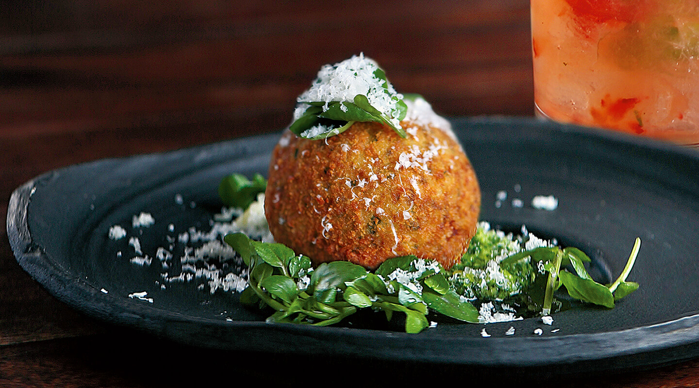 Wisconsin Cheese Arancini with Bandaged Wrapped Cheddar Recipe