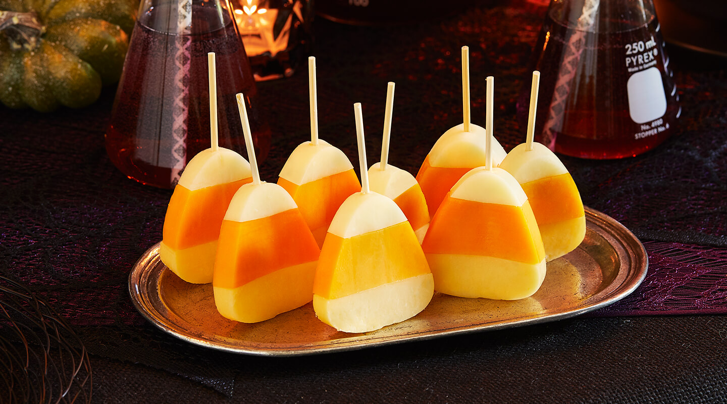 Wisconsin Cheese Candy Corn Cheese Picks recipe
