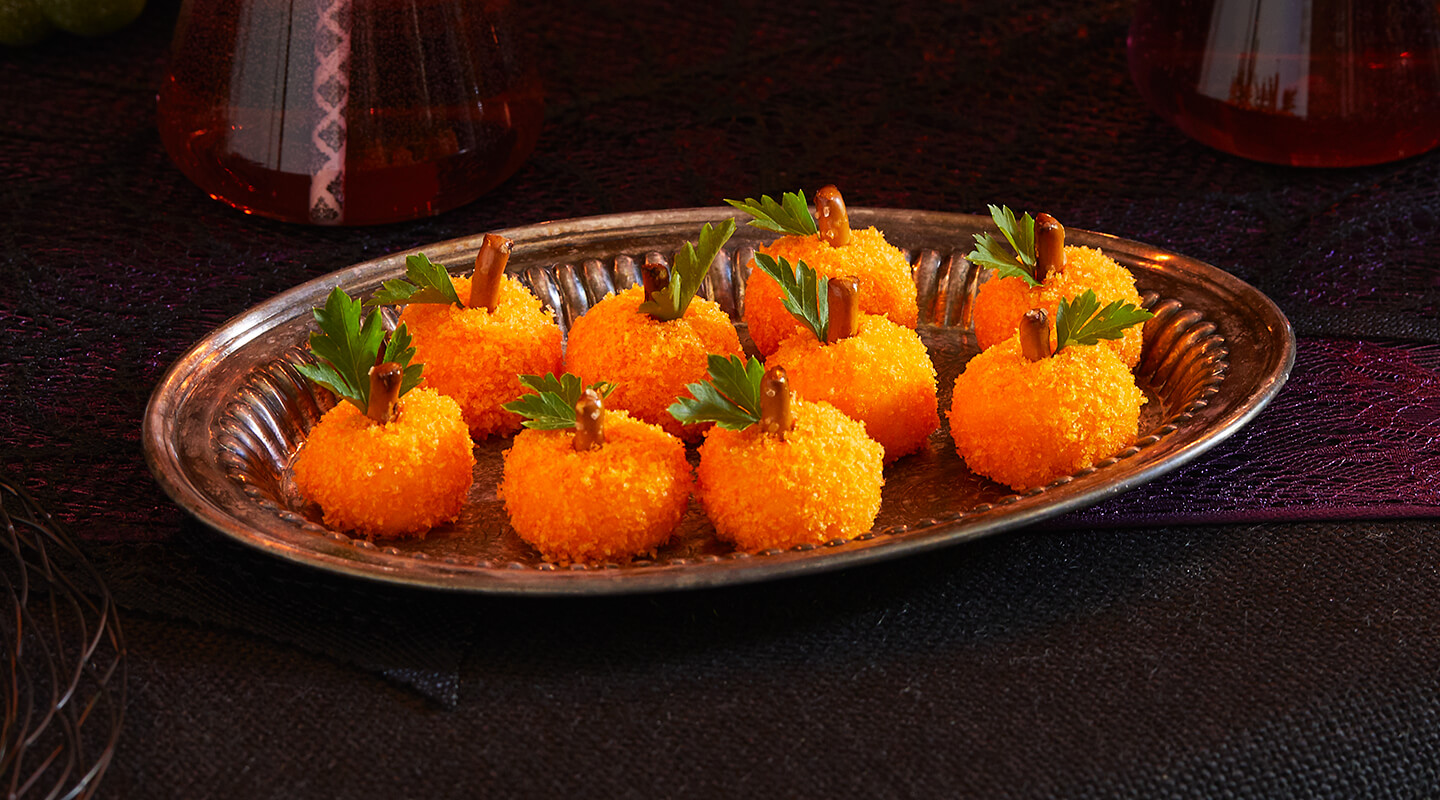 Wisconsin Cheese Mini Pumpkin Cheese Balls recipe
