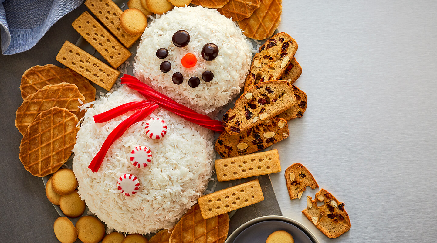 Wisconsin Cheese Cherry Cordial Snowman Cheese Ball Recipe